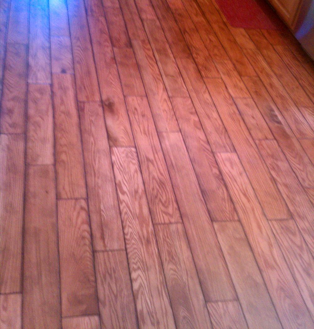 Pink laminate flooring for Wood floor installation