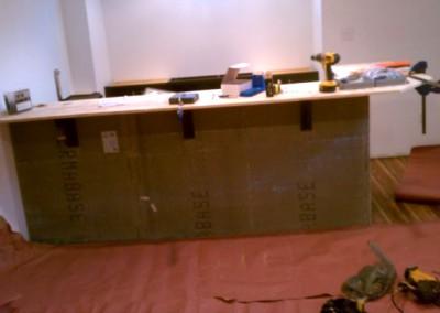 Bar remodeling with veneer stone