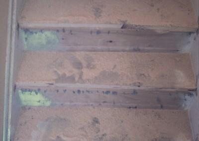 Hardwood staircase flooring installation - South Glens Falls - before